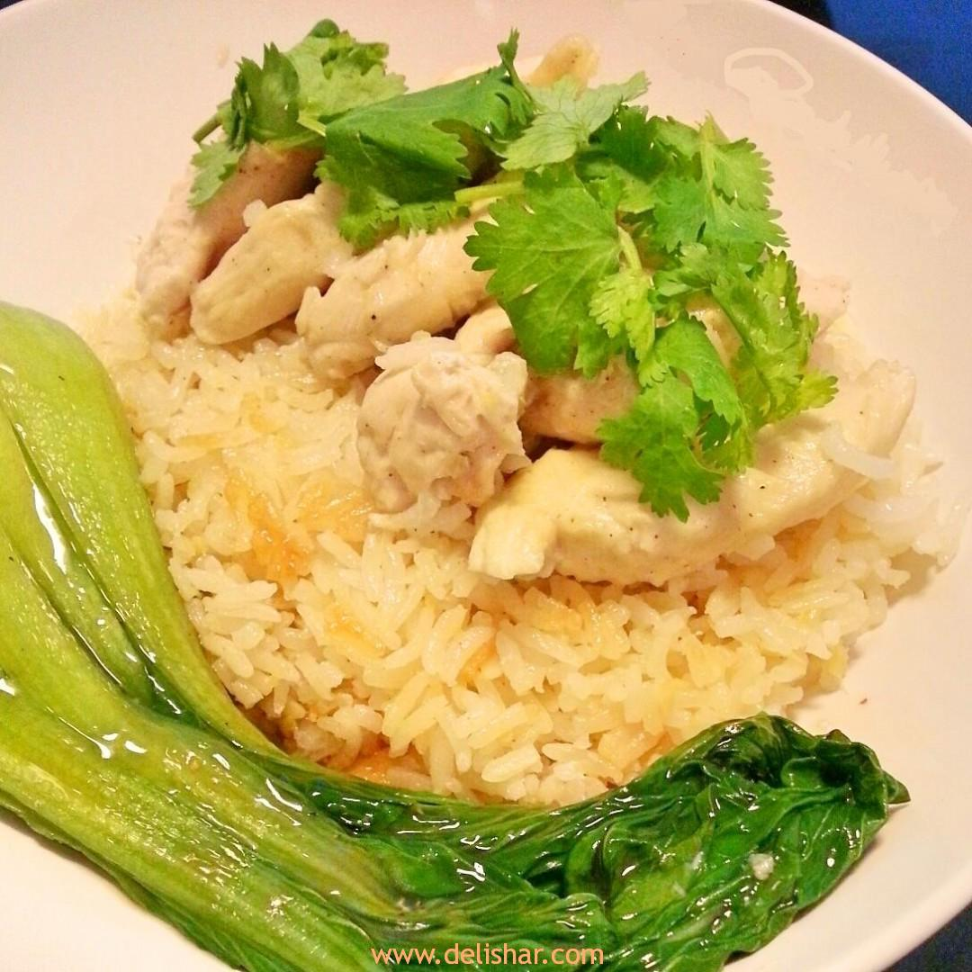 Chicken Rice Made In A Rice Cooker You Can Use Chicken Thighs If You Want To But I Prefer Using Either Breast Or Tenders It Taste Amazing Just Like The