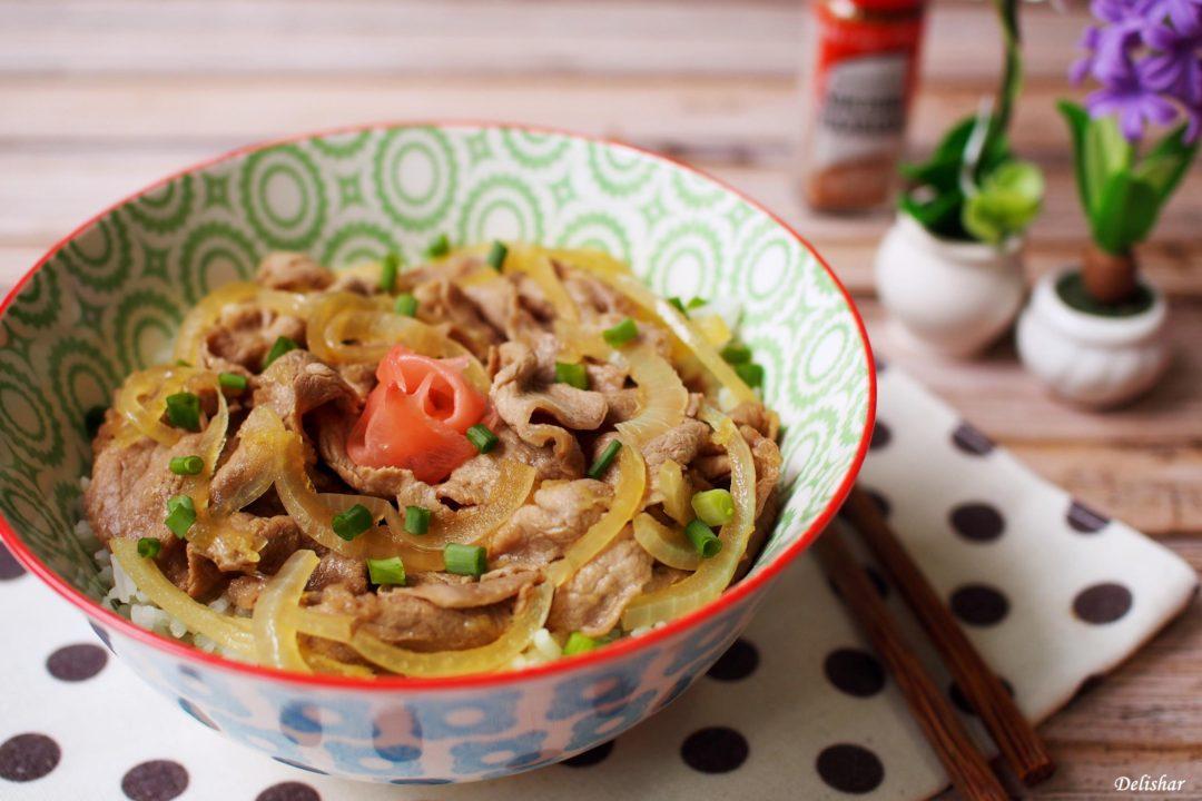 Gyudon (Japanese Beef Bowl) | Delishar - Singapore Cooking ...
