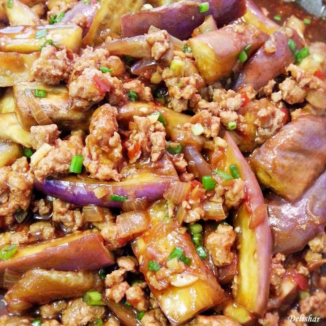 Spicy Szechuan Eggplant with Minced Pork - I added white ... |Spicy Eggplant Pork Recipe