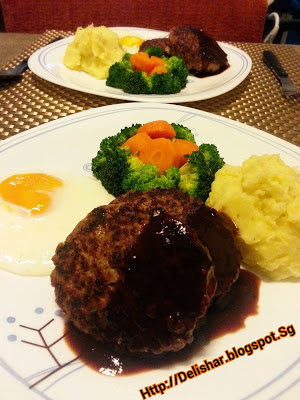 Japanese Hamburg Steak (Hambagu) | Delishar - Singapore Cooking Blog