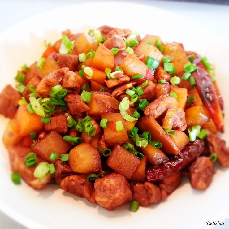 Sichuan braised radish and pork 3