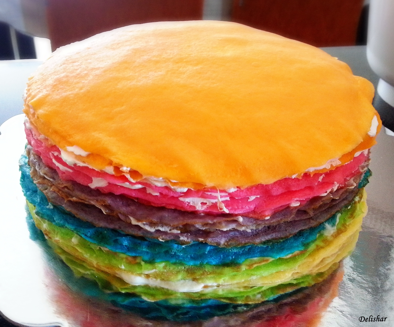 Rainbow Mille Crepes Cake Delishar Singapore Cooking Recipe And Food Blog