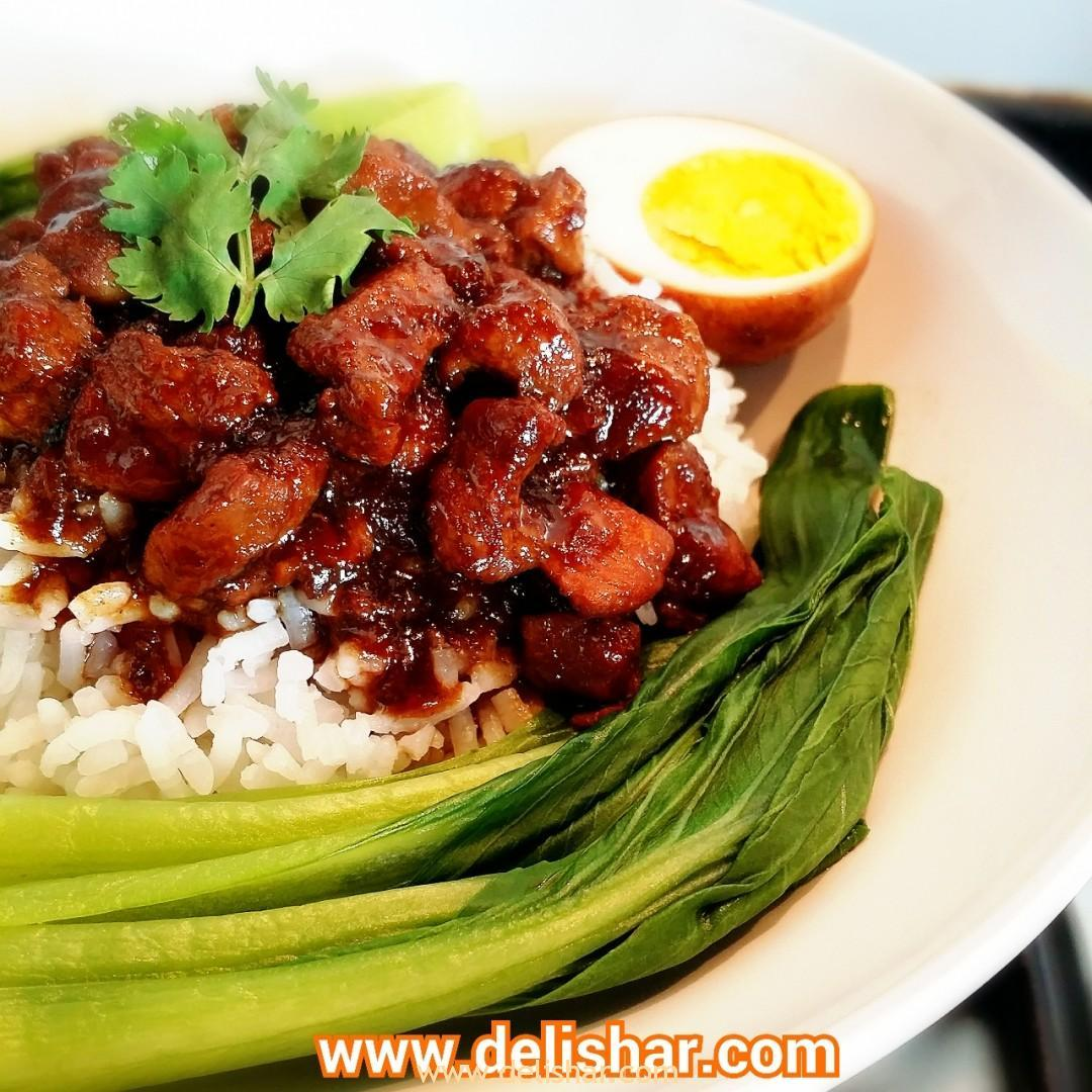 Taiwanese braised pork rice lu rou fan delishar singapore taiwanese braised pork rice lu rou fan delishar singapore cooking blog forumfinder Image collections