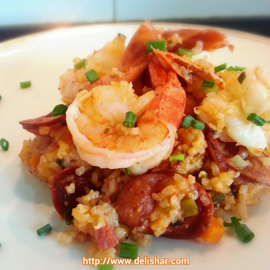 Shrimp and Sausage Jambalaya – Delishar