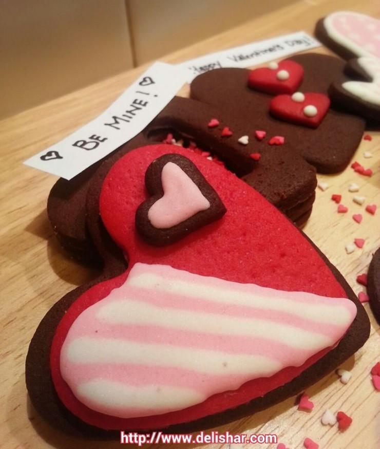 heart box cake