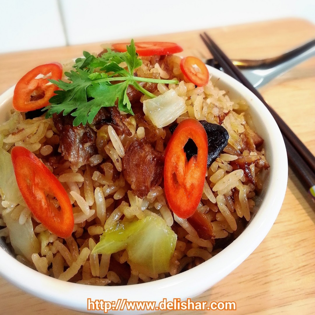 Stewed pork cabbage rice rice cooker delishar singapore dont you just love one pot meals especially one where you dont even have to stand around and wait for it to cook the recipe im posting today is one of forumfinder Image collections
