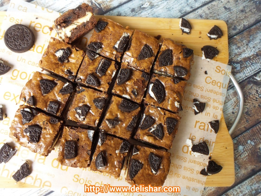 Oreo cream cheese brownies delishar singapore cooking blog forumfinder Images