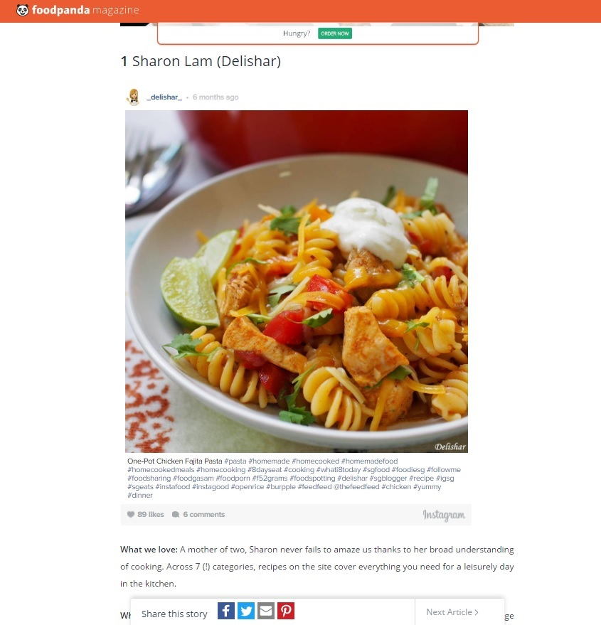 Food panda best blogger delishar singapore cooking recipe and food panda best blogger forumfinder