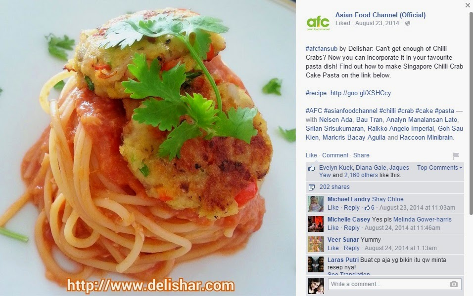 Chilli crab pasta afc delishar singapore cooking recipe and chilli crab pasta afc forumfinder Images