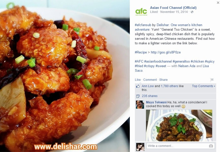 Media pr delishar singapore cooking recipe and food blog asian food channel on 15 nov 2014 featured lighter general tso chicken forumfinder Gallery
