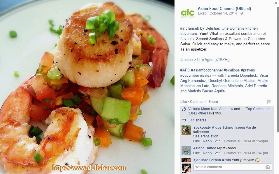 Seared scallop salsa afc delishar singapore cooking recipe and seared scallop salsa afc forumfinder Gallery