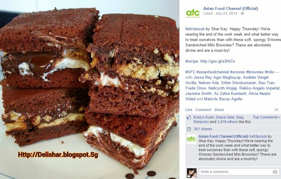 Media pr delishar singapore cooking recipe and food blog asian food channel on 24 jul 2014 featured smores sandwiched milo brownie forumfinder