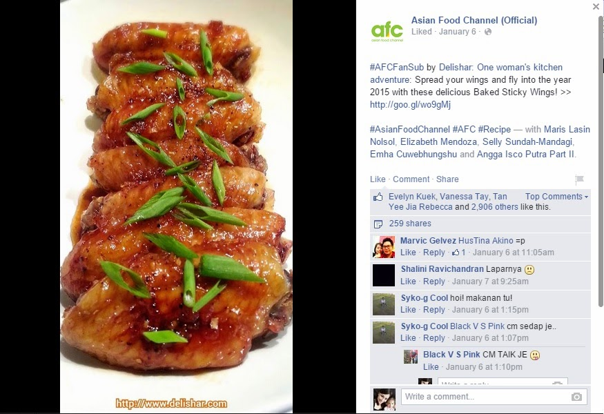 Media pr delishar singapore cooking recipe and food blog asian food channel on 6 jan 2015 featured power sticky wings forumfinder Gallery