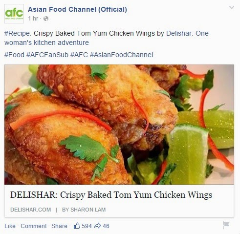 Media pr delishar singapore cooking recipe and food blog asian food channel 4 feb 2015 featured crispy tom yum wings forumfinder Images