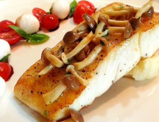halibut-yuzu-mushroom-butter-sauce-featured