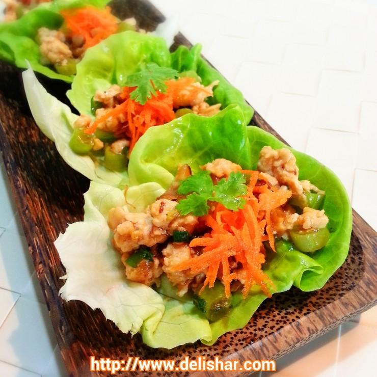 Chicken Lettuce Wrap 1