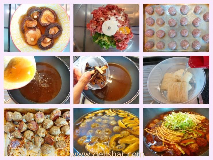 Mushroom Meatball Process
