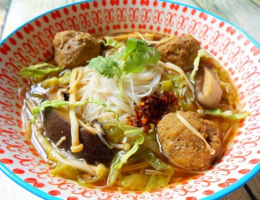 mushroom meatball soup 1