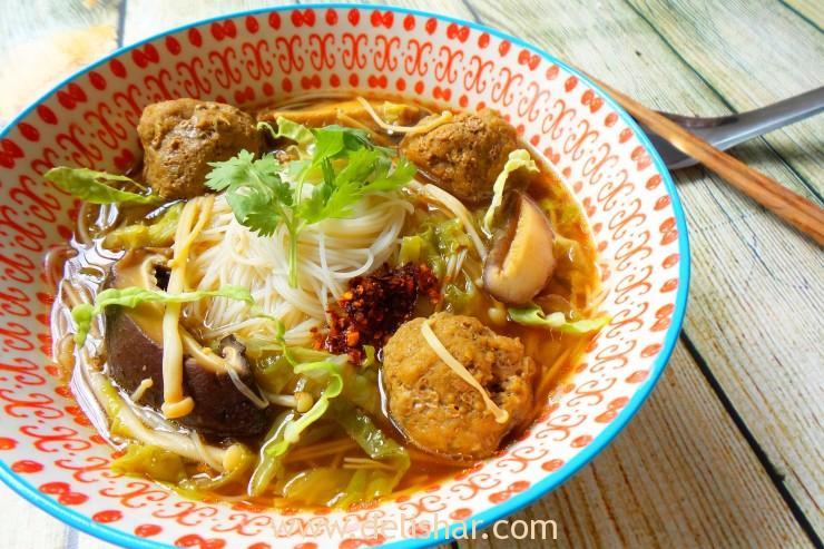 mushroom meatball soup