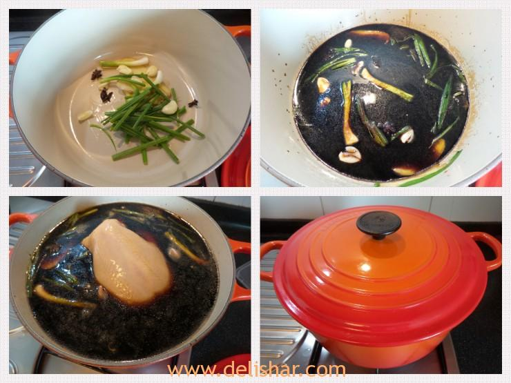 Soy Sauce Chicken Process