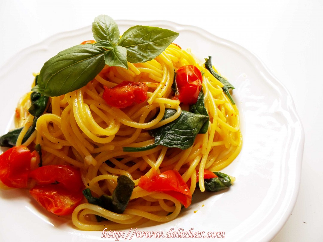 Spinach Tomato Pasta 3