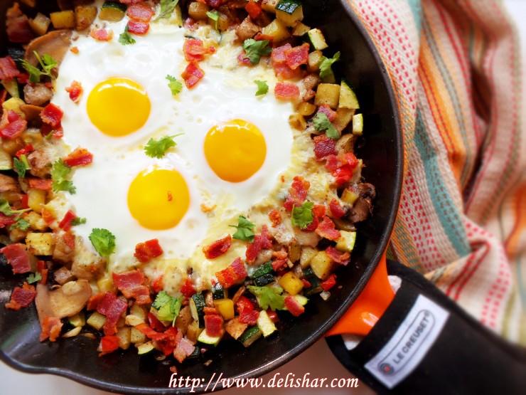3 breakfast skillet