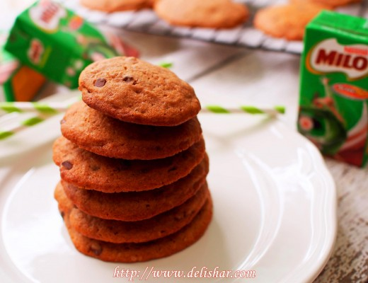 5 Chocolate Chips Milo Cookies