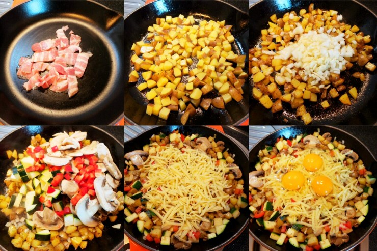 Breakfast skillet process