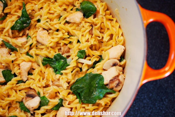 Chicken Mushroom One Pot Pasta 3