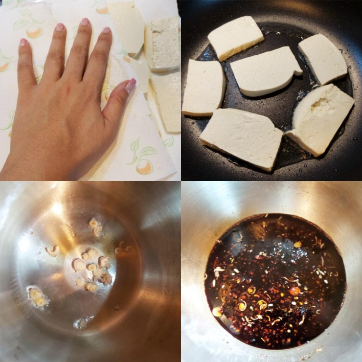 black sweet tofu process