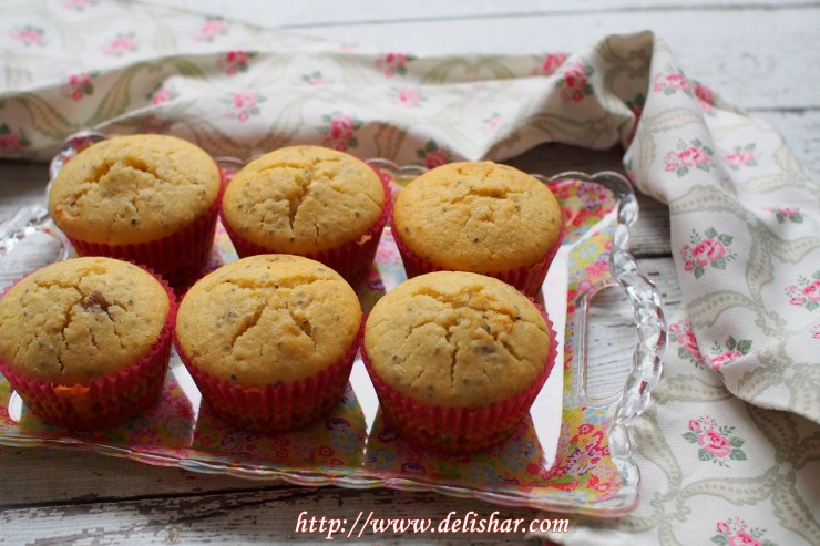 Jam Filled Chia Seed Muffins 9