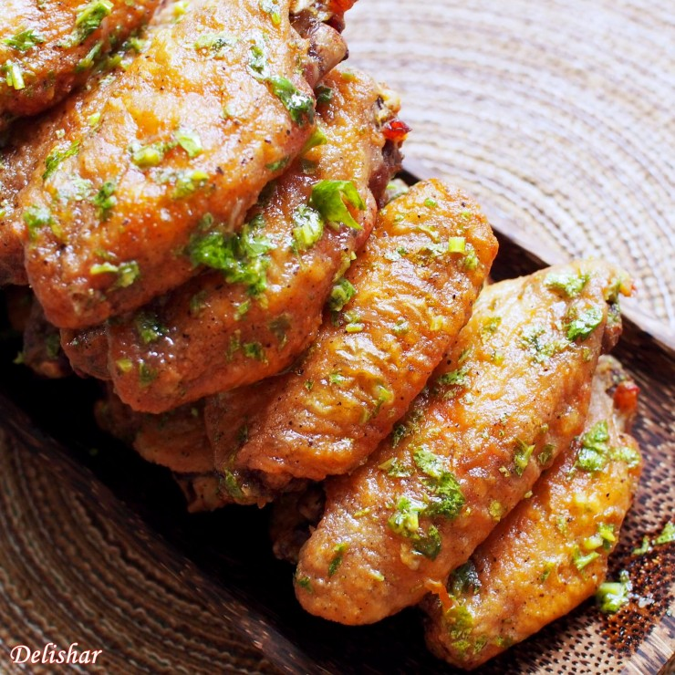 Lime Cilantro Wings ta