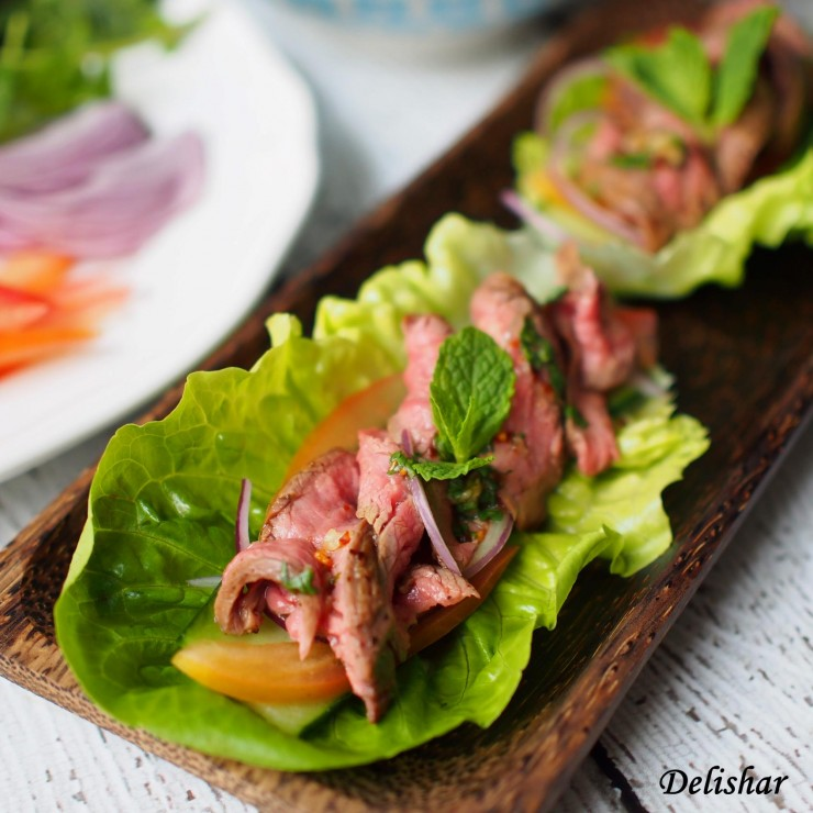 Thai beef salad wrap insta 1