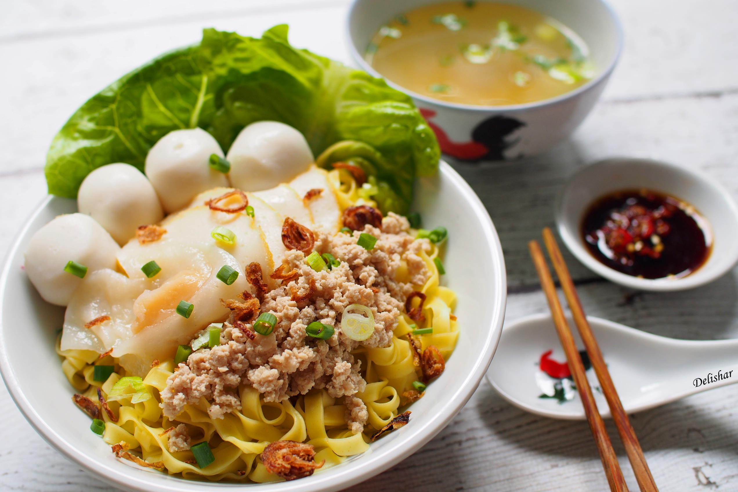 Fishball mee pok dry delishar singapore cooking blog forumfinder Image collections