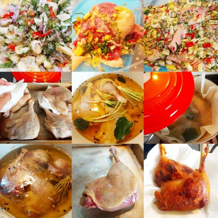 Duck confit Process
