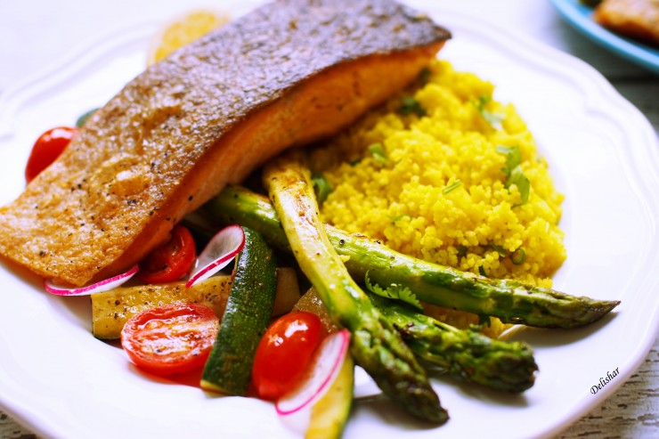 salmon with couscous 3