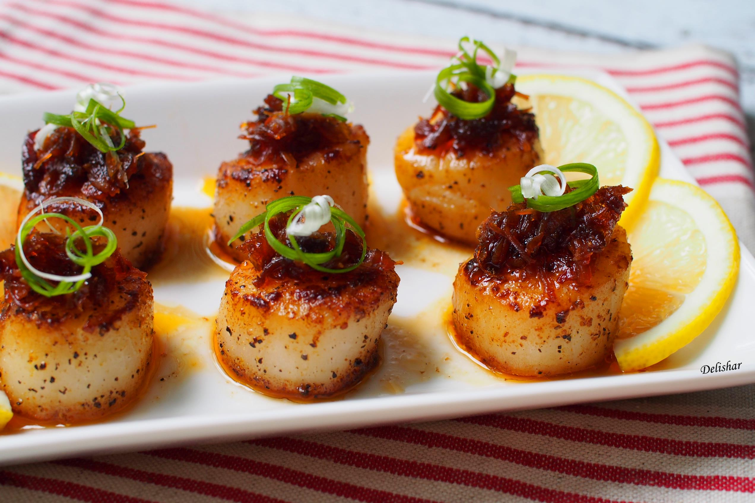 how to cook scallops in a pan