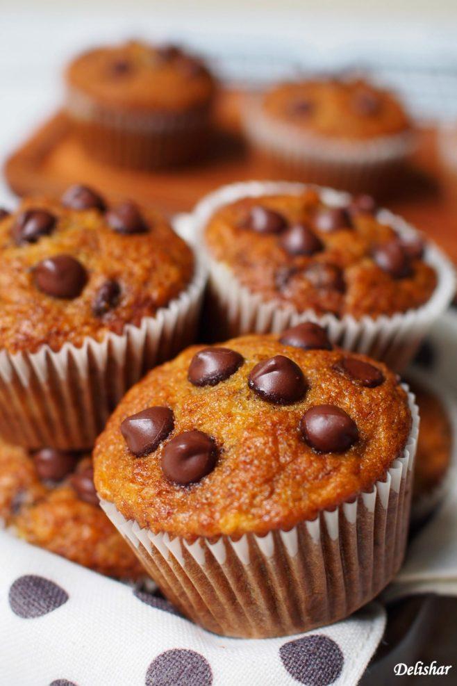 Banana Chocochips Muffins 2