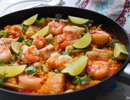 Skillet Seafood Paella 2