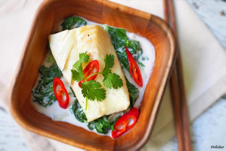 Coconut Milk Poached Fish 1