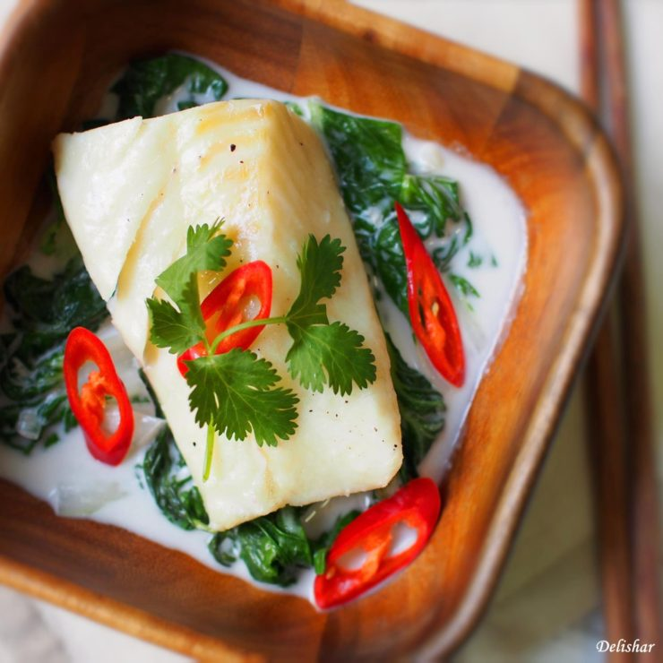 Coconut Milk Poached Fish insta