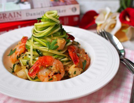 Shrimp & Scallop Scampi Zoodles 8