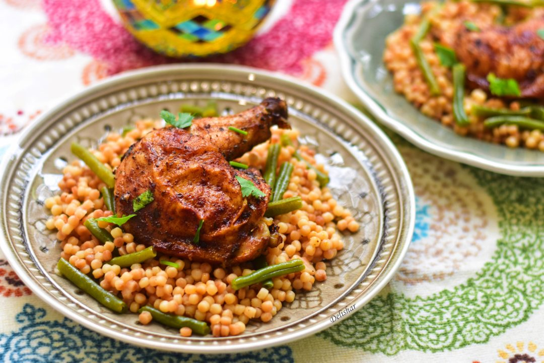 Garlic paprika chicken pearl couscous delishar singapore if you have not tried smoked paprika yet do yourself a favour and buy a bottle of that amazing spice you my friend have been missing out big time forumfinder Gallery