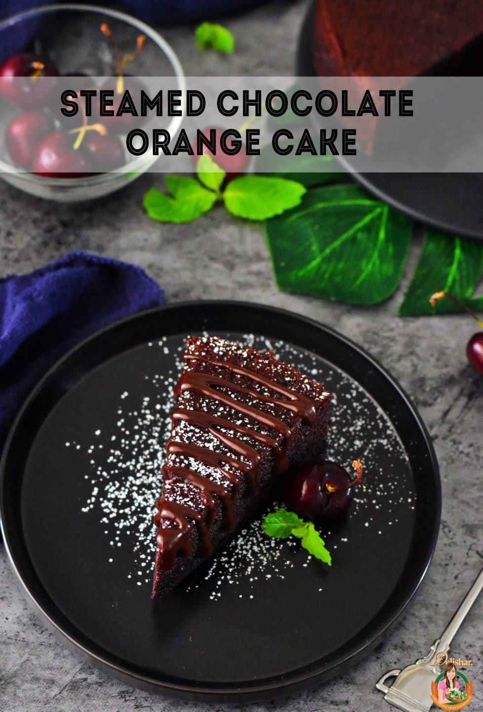 Steamed Moist Orange Chocolate Cake | Delishar - Singapore Cooking Blog