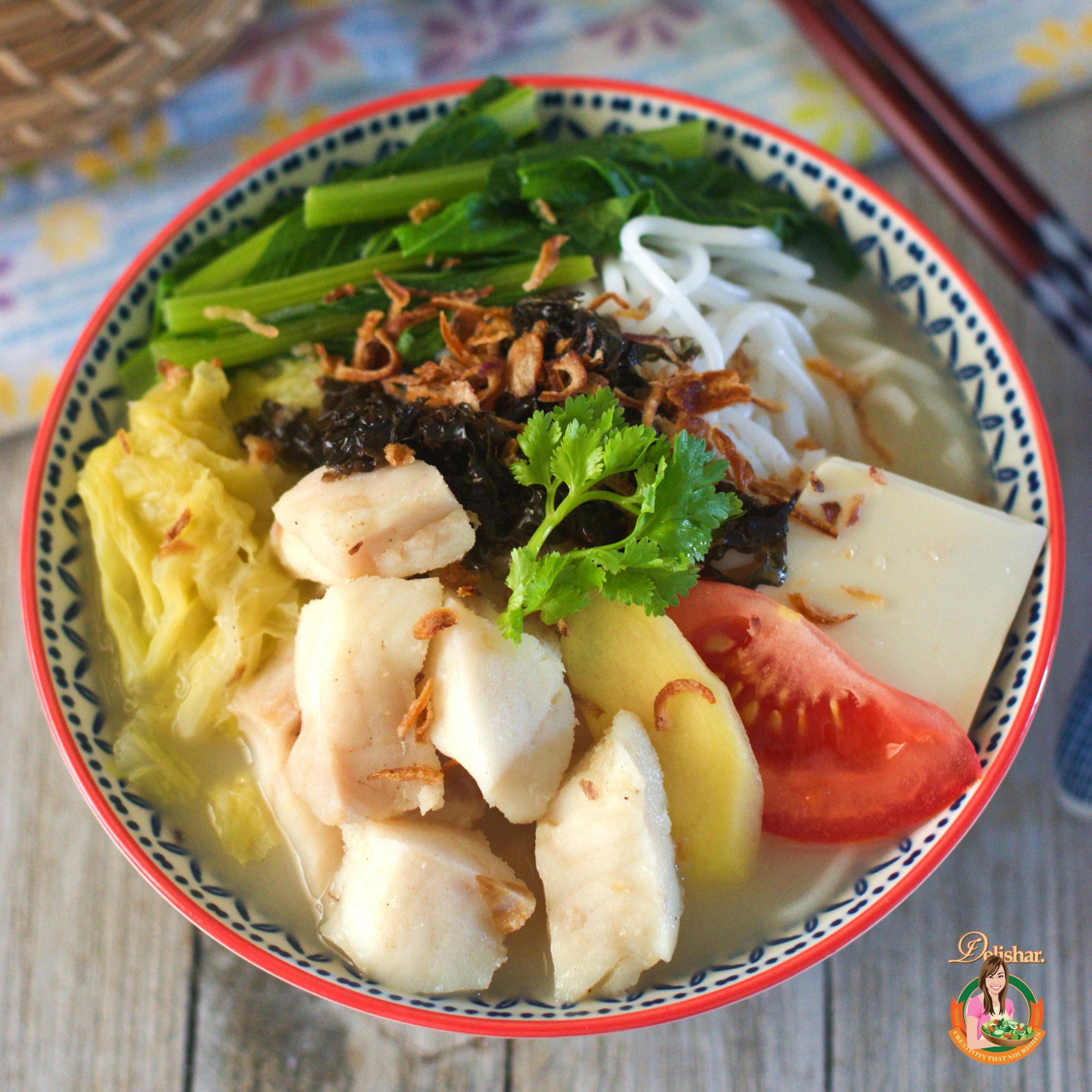 Fish Soup Beehoon Delishar Singapore Cooking Recipe And Food Blog