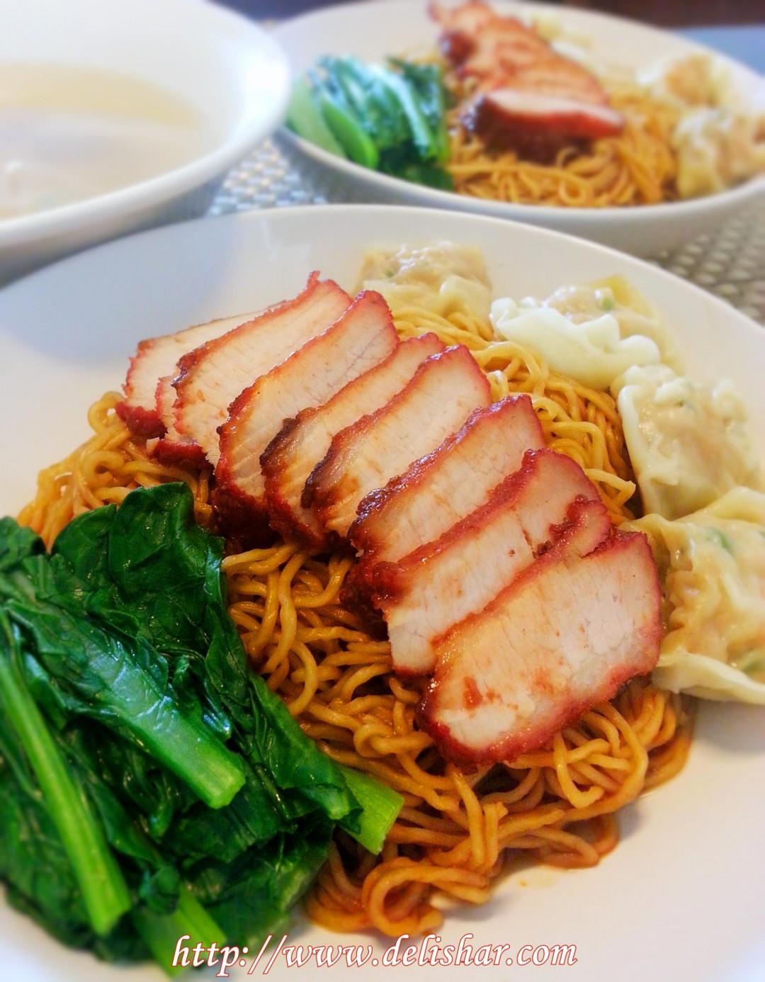 Char Siew Wanton Noodles Delishar Singapore Cooking Blog
