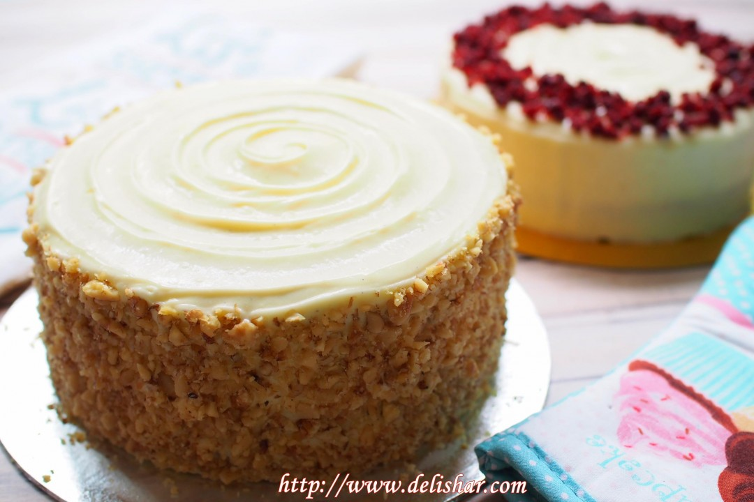 Carrot Cake With Cream Cheese Frosting Delishar