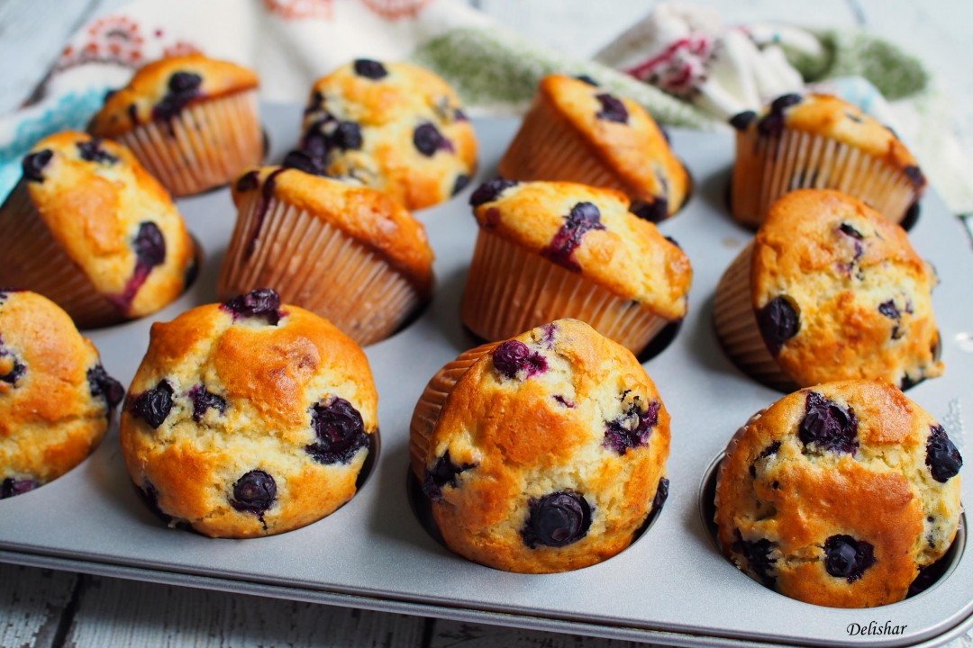 Blueberry Muffins Cake Recipe